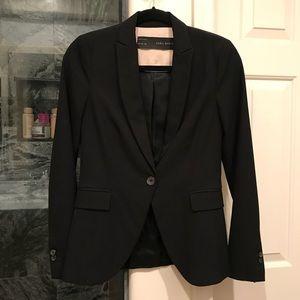 ZARA BASIC fitted suit jacket